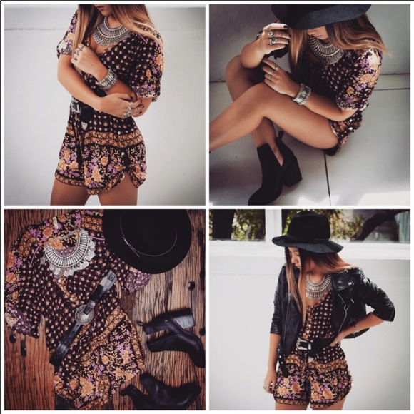 Spell & The Gypsy Collective Other - Spell and the Gypsy Desert Rose Romper in Raven